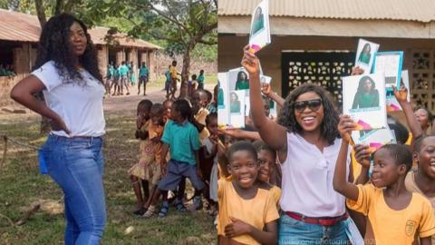 Afia Pokua Support And Show Kindness To Children In A Village By Donating Learning Materials