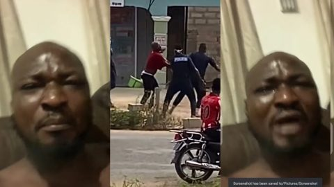 Video: Moment Ghana Police Aggressively Dragged Funny Face During A.rrest