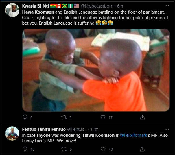 """Hot Video: Her English is so poor & she is unfit for the job"""" – Ghanaians troll Hawa Koomson for failing to define """"Fish Farming"""" during vetting 7"""
