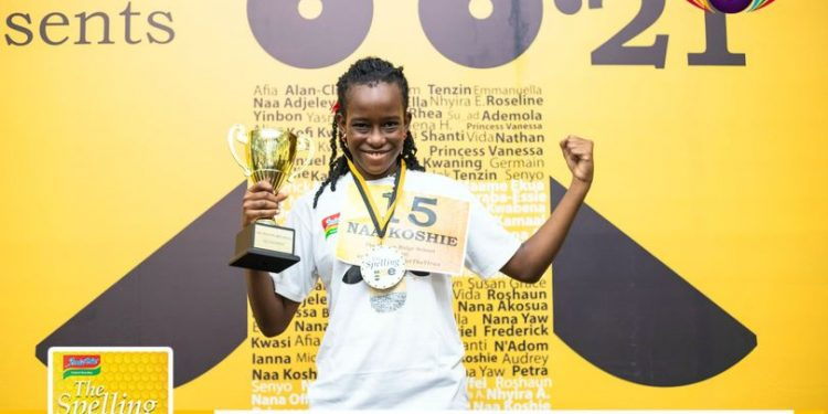 """11-year old Naa Koshie wins 2021 edition of The Spelling Bee competition by spelling """"AMAXOPHOBIA"""""""