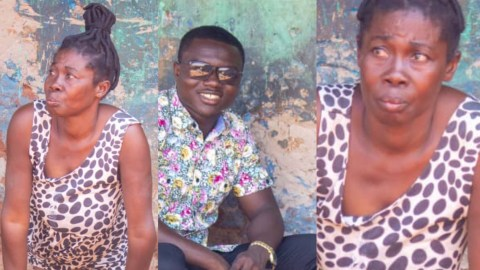 VIDEO: The Sad Story Of 45 Year Old Maame Serwaa, A Cripple Who Was Abandoned After Giving Birth To Three Kids