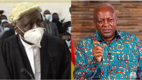 Tsatsu Tsikata didn't charge a dime for handling my petition – John Mahama confesses