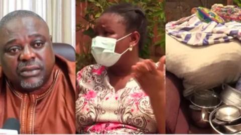 SAD Video: I'm homeless as my husband Koku Anyidoho has sacked me from the matrimonial house – Wife sadly tells story