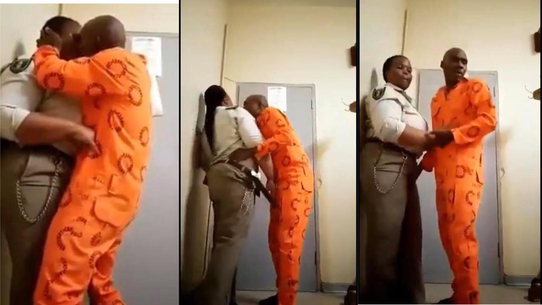 South Africa: Female prison officer caught on camera having delicious s3x with male inmate in office