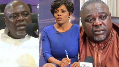 VIDEO: Koku Anyidoho roars at Nana Aba, walks out from live interview at the mention of his wife