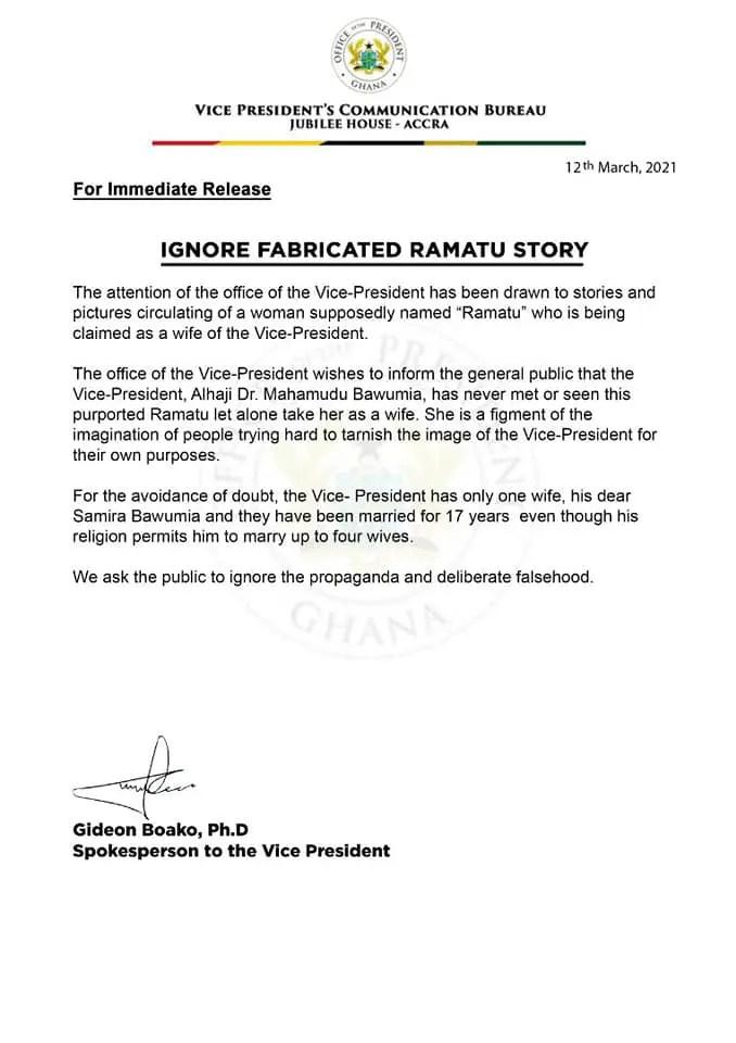 Bawumia Finally Reacts