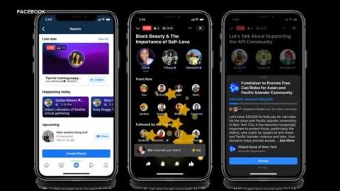 Facebook adds Live audio room feature