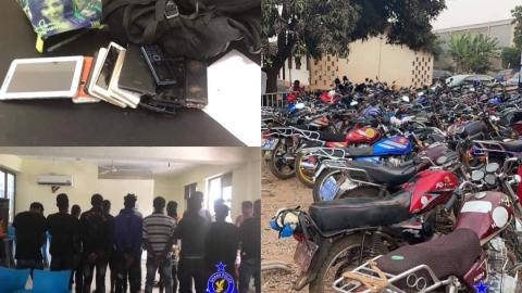 Accra: Police arrest 52 suspected criminals, impound 44 motorbikes in a swoop ahead of Easter holidays