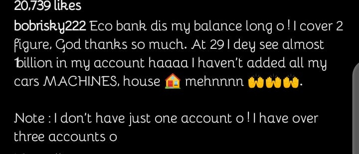 bobrisky 1 1 Bobrisky Shares His Billion Naira Account Balance On Social media