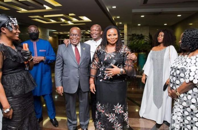 Akufo-Addo meets Charlotte Osei for the first time in 3 years after sacking her (+Photos)