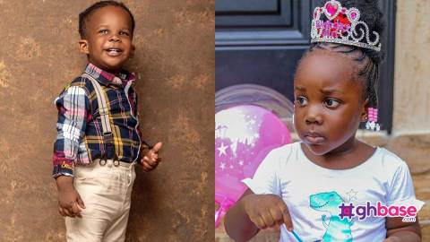 """""""Awww he's so cute"""" – Stonebwoy's daughter gushes over her brother's good looks (+Video)"""