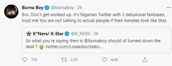 """""""I'm from Nigeria but I'm not a Nigerian artiste"""" – Burna Boy explains 2"""