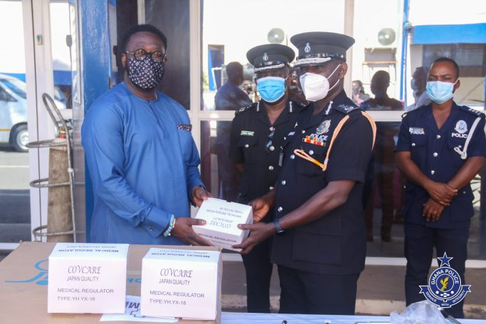 Ghanaians raise alarm after QNET Limited made a donation to the Ghana Police Service 2