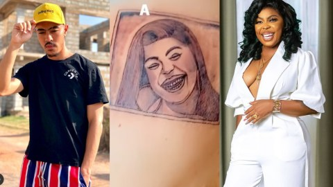 Mark Of The Beast: You Just Wasted Your Beautiful Body, Go Back For Your Money – Netizens Mock Afia Schwarzenegger's Son Over Tattoo Fail
