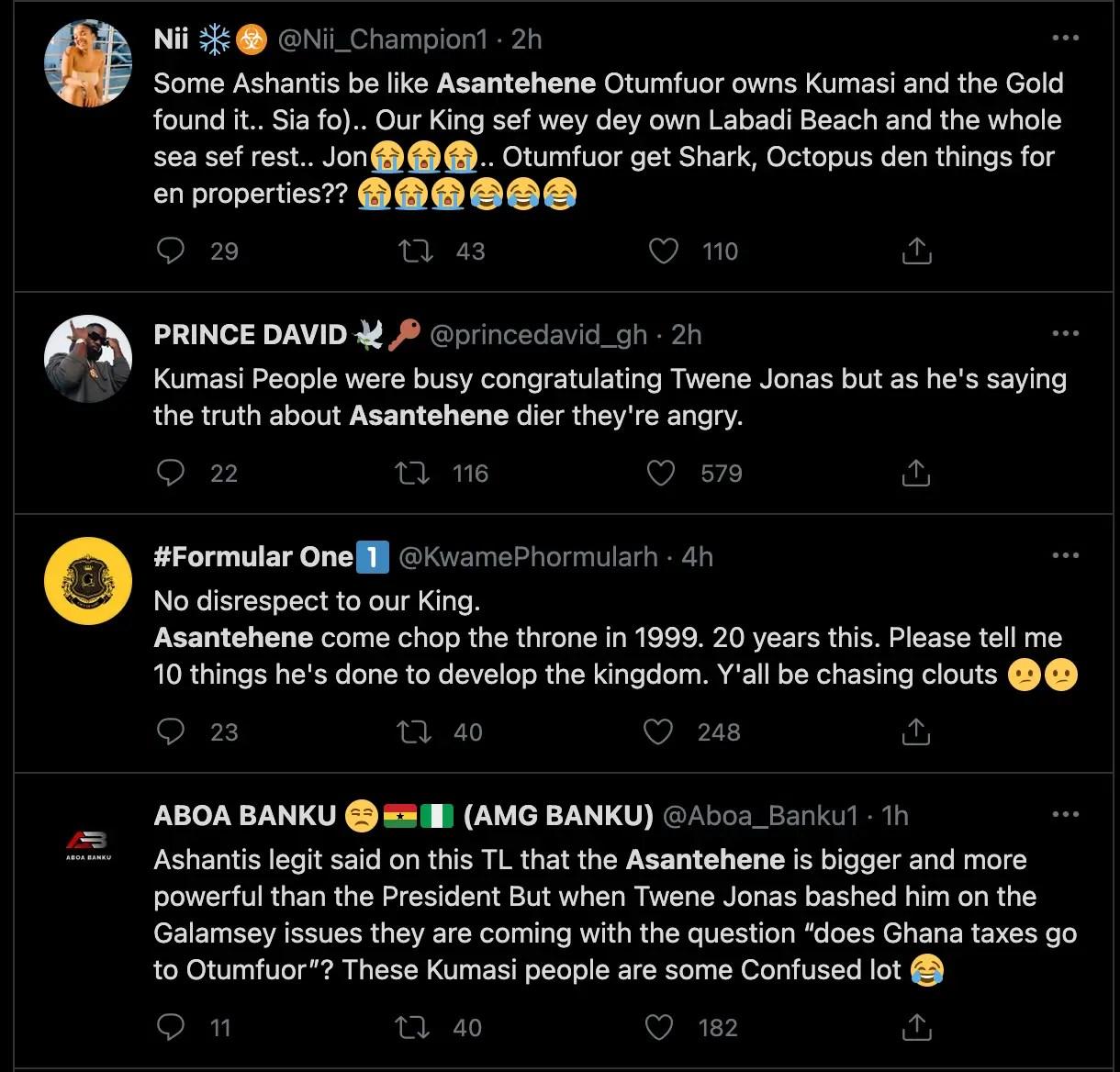 "Leave Twene Jonas alone, Asantehene has failed his people"" – Ghanaians' reaction following calls for Twene Jonas' head [Details] 3"