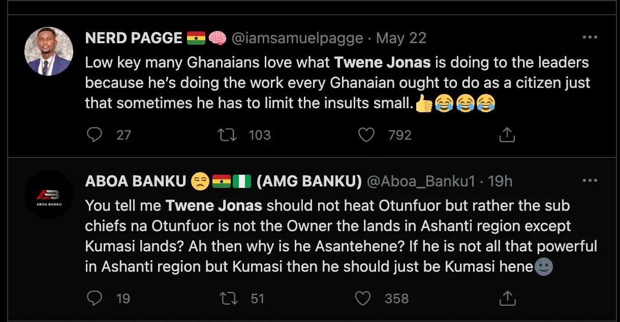 "Leave Twene Jonas alone, Asantehene has failed his people"" – Ghanaians' reaction following calls for Twene Jonas' head [Details] 6"