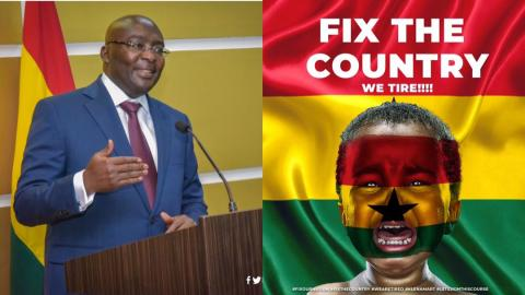 """""""We inherited a messy economy from the NDC but we are fixing it"""" – VEEP Bawumia replies #FixTheCountry protestors with facts and figures [Details]"""