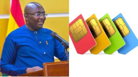 Ghanaians to re-register SIM cards in June with Ghana card or risk losing phone numbers – Bawumia