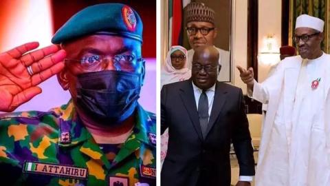 President Akufo-Addo sends message of condolence to Nigeria following death of Chief of Army Staff