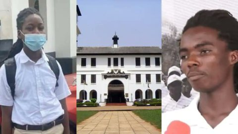 Rasta student, Tyrone Marhguy forced to take end of term exams hours after reporting to Achimota School today