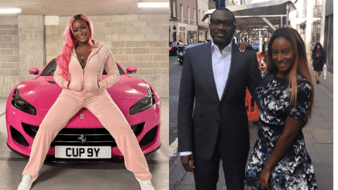 'I share messages from guys with my dad' — DJ Cuppy reveals many things she does with her dad, Femi Otedola (Photos)