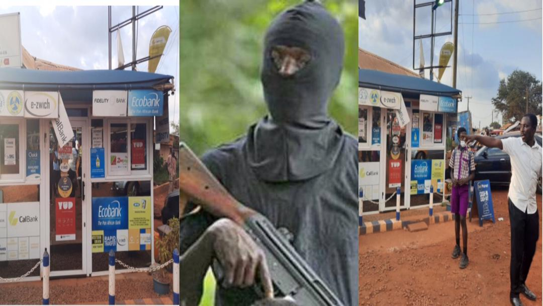 Kumasi: One sustains multiple gun wounds as MoMo shop is robbed of GH¢140K; crying victim narrates how it happened [Video]