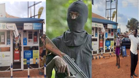 Kumasi: One sustains multiple gun wounds as MoMo shop is robbed of GH¢140K; crying victims narrates how it happened [Video]