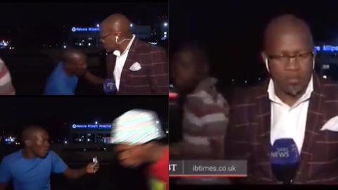 Street robbers attack and rob journalist who was reporting an event live on television [Video]