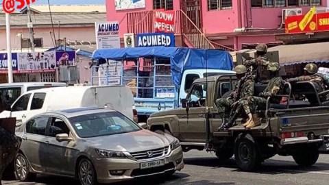 Bullion van attack: Photo of armed military men tasked to provide security escort to makeshift bullion van