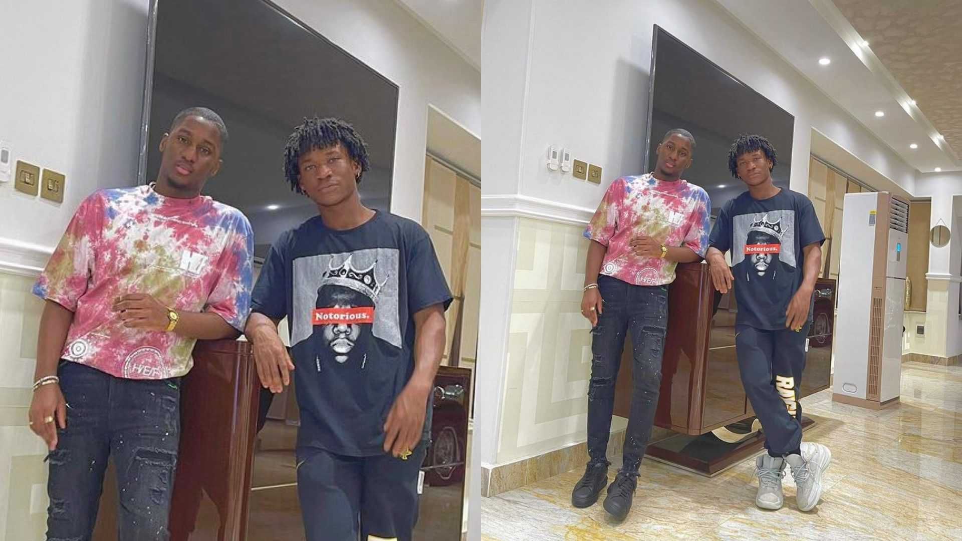 Check Out Moment Actor, Abraham Attah And Kwame Despite's Son, Saahene Having Wild Fun With Some Beautiful Ladies