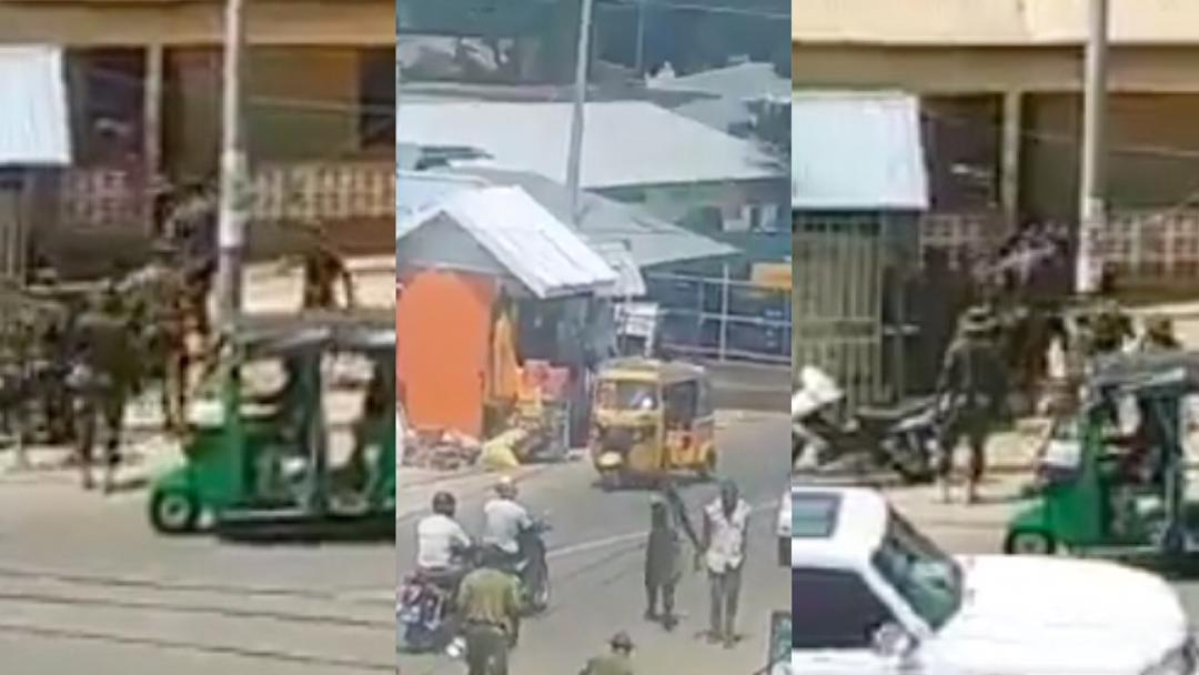 Just In: Days after the Ejura killings, soldiers secretly filmed chasing and beating up civilians in the street of Wa [Video]