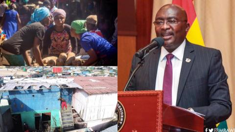 """""""You promised to transform our area into East Legon, where is it?"""" – Agbogbloshoie residents vexed as they chase Bawumia over promise failure [Video]"""