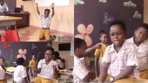 """Primary school students jam to Black Sherif's """"Second Sermon"""", sing word for word as they react dramatically to the track [Video]"""