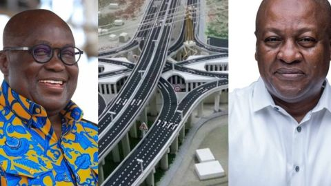 """""""Mahama built the Pokuase Interchange, stop taking credit for it"""" – Akufo-Addo receives backlash from Ghanaians[Details]"""