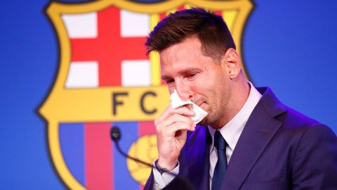 Messi Breaks Down In Tears At Final Barcelona Press Conference As He Leaves The Club