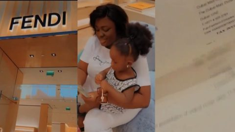 Rich Mum – This Is How Much Tracey Boakye Blew At Fendi Shop For Her Daughter Akua Nyhira