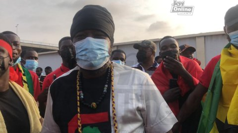 Blakk Rasta joins #FixTheCountry demo, sends message to government [Video]