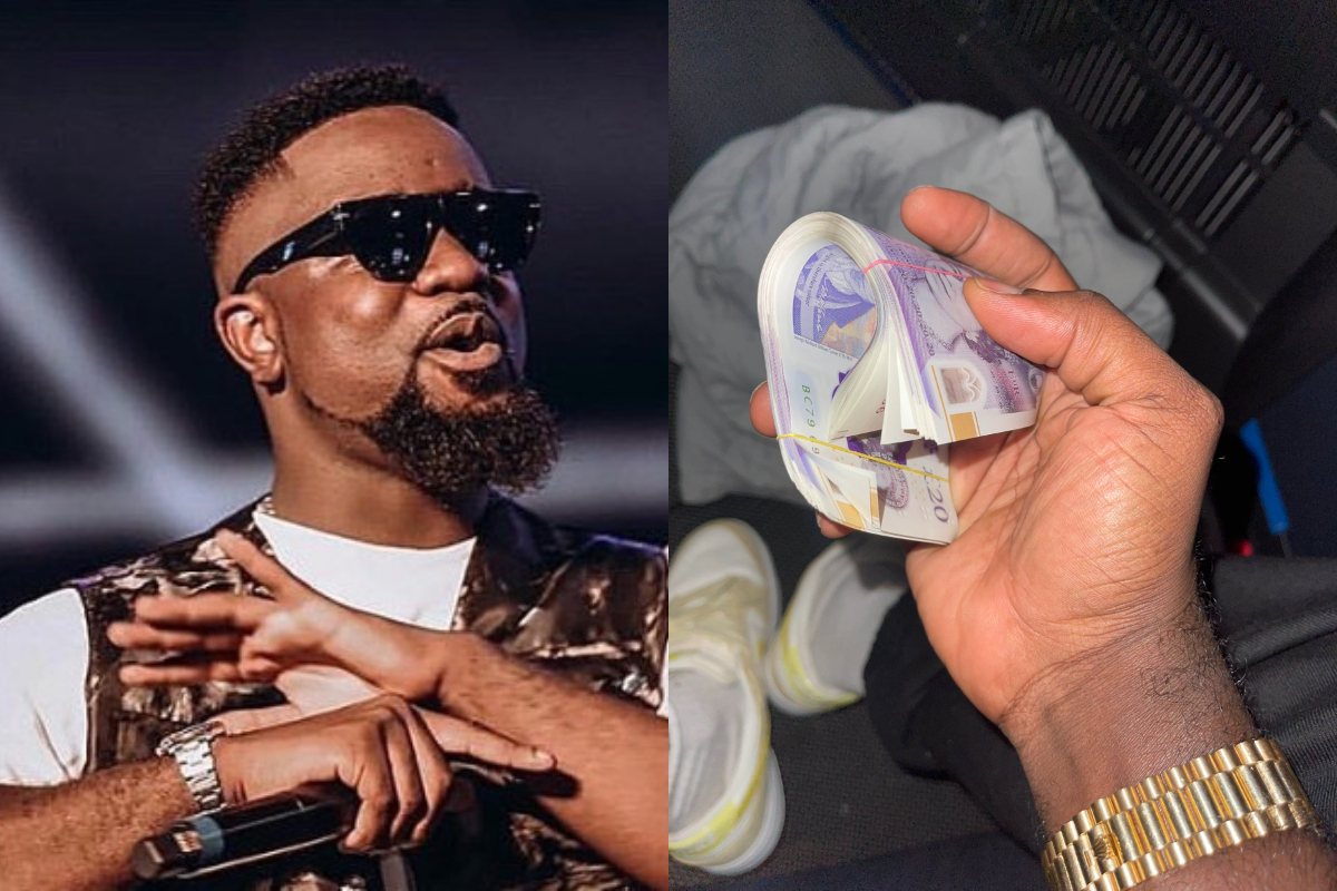 Sarkodie Reveals How Much He Needs Money Despite His Wealth As A Fan Gifts Him A Bundle Of Cash