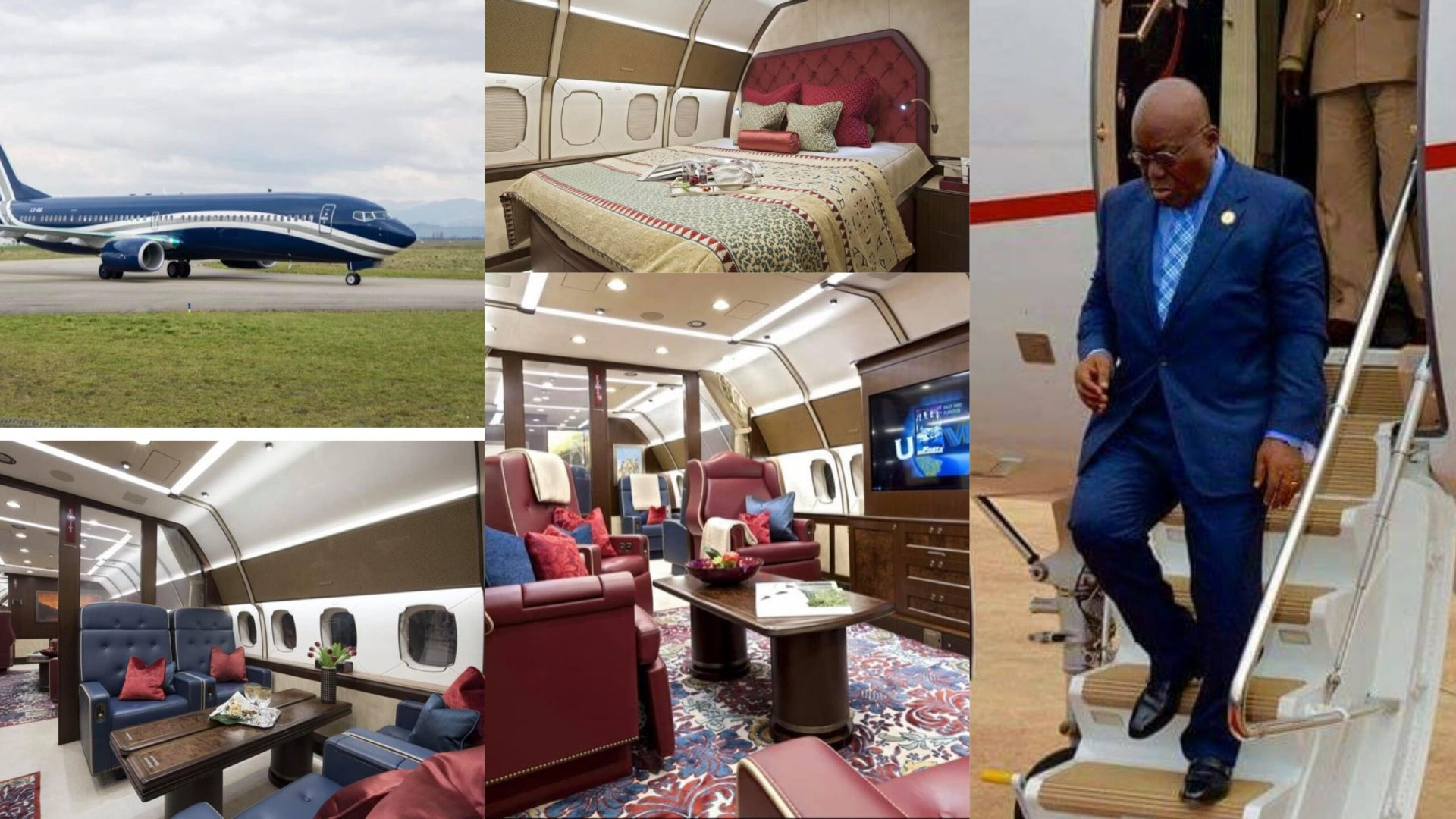 Revealed: President Akufo-Addo rents luxurious private jet to Germany which costs $15,000 per hour [Photos]