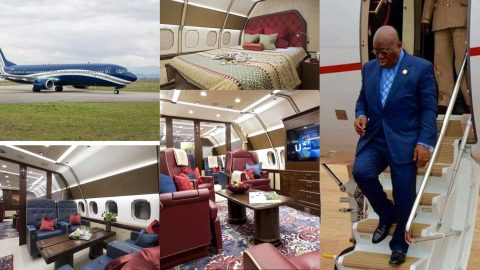 Revealed: President Akufo-Addo rents luxurious private jet to Germany which reportedly costs $15,000 per hour [Photos]