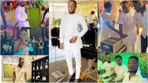 Cheddar, Asamoah Gyan, others storm lavish birthday party of Ghanaian business magnate KJP (Watch)