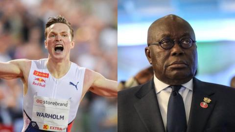 """""""He wants to go and beg for money"""" – Ghanaians bash Prez Akufo-Addo after he congratulated Norway's Warhom for winning Olympic medal"""