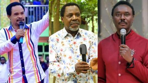 """""""You're possessed, you need dirty slaps to correct your senses"""" – Two Nigerian pastors face-off over death of TB Joshua [Video]"""