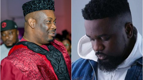 Sarkodie speaks in tongues after tasting Nigeria Jollof prepared by almighty Don Jazzy