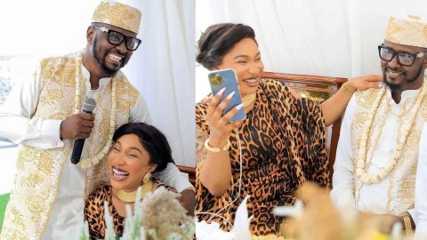 Tonto Dikeh's New Lover, Prince Kpokogiri Debunks The Trending Voice Note Alleged To Be His, Says It's Fake