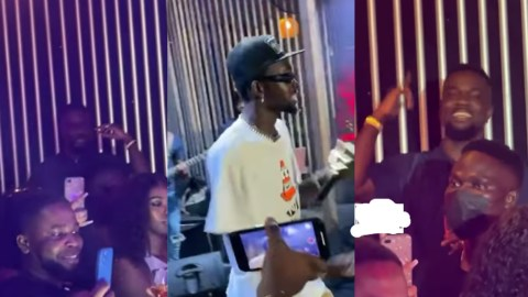 Sarkodie In 'Cloud 9' As He Watches Black Sherif Perform Second Sermon