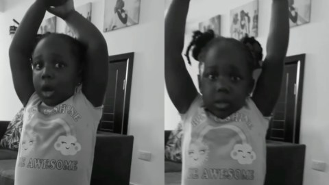 'Sorry mummy, I didn't mean to' – Stonebwoy's daughter asked for forgiveness after her mom punished her for destroying a gadget
