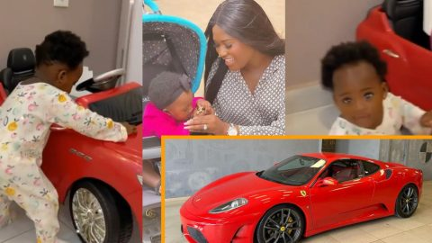 Fella's Baby Girl Island Frimpong, Already Owns A Masarati As Her Mother Pronounce It With Faith