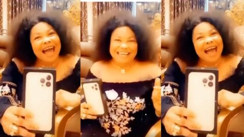 """""""If you claim you have money, go buy one"""" – Nana Agradaa throws challenge after acquiring the new iPhone 13 Pro Max [Video]"""