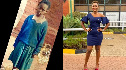 """""""Anytime I look back at this photo, I know God has been good to me"""" – Beautiful Kenyan journalist Nana Owiti shares story behind her transformation [Photos]"""